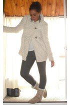 Zara jacket - matilde leggings - Ugg boots - H&M earrings
