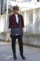 ruby red H&M Man shirt - black My shop pants