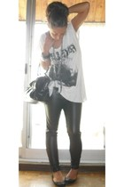 Zara pants - Zara t-shirt - Zara shoes - mercatino accessories - H&M bracelet