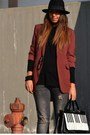 Ruby-red-blazer-h-m-blazer-black-boots-asos-boots-silver-jeans-zara-jeans
