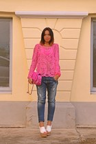 bubble gum Sheinsidecom blouse