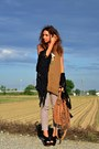 Dark-brown-zara-bag-camel-h-m-pants-brown-zara-vest-black-shellys-heels
