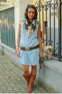 Blue-h-m-dress-brown-made-in-marrakech-belt-brown-no-brand-boots-blue-h-m-