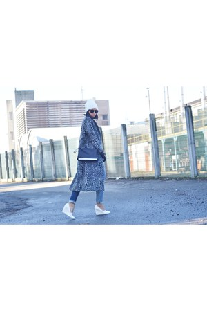 charcoal gray H&M coat - ivory H&M wedges