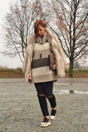 light brown Palomitas shoes - camel River Island coat