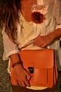 Orange-satchel-bag-wwwromwecom-bag-ivory-blouse-h-m-blouse-brown-pants-zara-