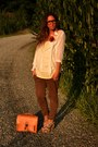 Orange-satchel-bag-wwwromwecom-bag-ivory-blouse-h-m-blouse-brown-pants-zara-