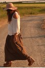 Camel-floppy-hat-bershka-hat-camel-sweater-h-m-sweater-brown-maxi-skirt-zara