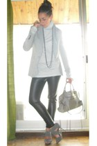 Zara blazer - Zara pants - Zara shirt - Zara shoes - balenciaga purse - vintage