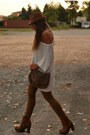 Brown-leggins-laredoute-leggings-bronze-boots-urban-outfitters-boots