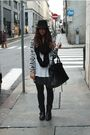 Black-h-m-man-hat-gray-h-m-cardigan-white-h-m-t-shirt-black-h-m-skirt-bl