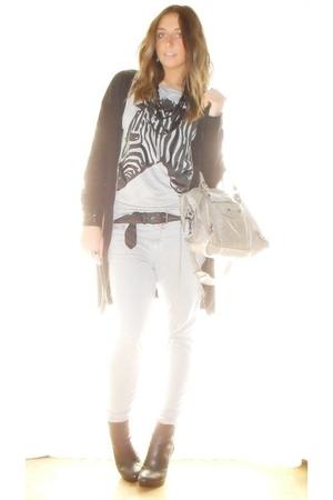 H&M shirt - H&M t-shirt - no brand belt - Zara pants - silvian heach boots - H&M