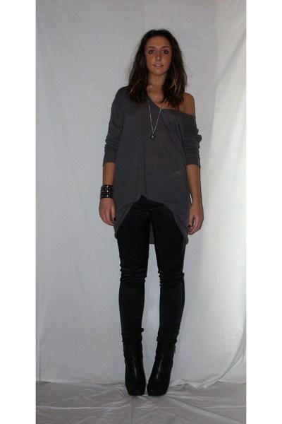Gray Shirt Gray H&m Shirt Black Zara