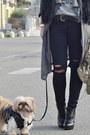 Black-cat-style-romwe-sunglasses-heather-gray-balenciaga-bag