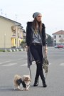 Heather-gray-balenciaga-bag-black-cat-style-romwe-sunglasses