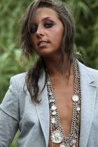 Zara blazer - vintage necklace