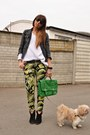 Black-zara-jacket-black-mango-boots-ivory-zara-sweater-green-h-m-bag