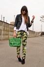 Black-mango-boots-black-zara-jacket-ivory-zara-sweater-green-h-m-bag