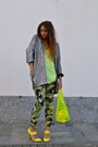 Yellow-pull-bear-bag-yellow-stefanel-heels-chartreuse-zara-pants