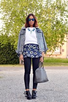 blue OASAP skirt - heather gray OASAP jacket
