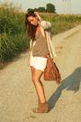 Beige-zara-blazer-brown-h-m-shirt-white-h-m-shorts-brown-zara-boots-whit