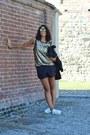 Gold-swaychic-top-black-zara-blazer-black-zara-shorts