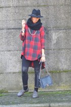 tawny italian brand shirt - heather gray Dr Martens shoes - black H&M leggings