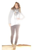 Zara blazer - H&M shirt - bancarella scarf - Zara jeans - vintage necklace - Zar