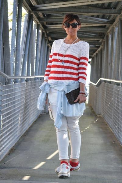 red Mango sweater - light blue H&M shirt