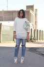 White-sheinside-dress-sky-blue-h-m-jeans-white-zara-sweater