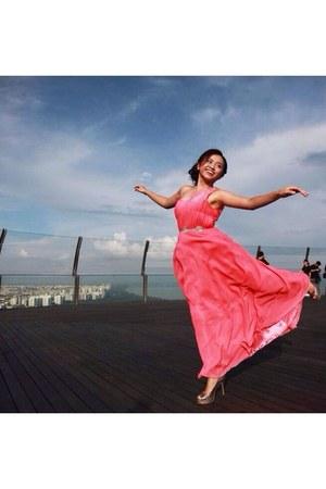 hot pink thrift dress - bubble gum new look heels