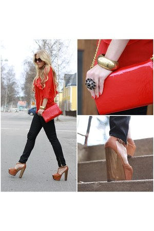 GinaTricot bag - Jessica Simpson clogs - Vila blouse
