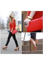 GinaTricot bag - Jessica Simpson clogs - Vila blouse