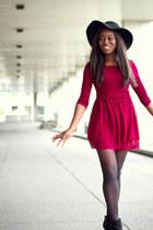 Topshop dress - Zara boots - Cambden Market hat