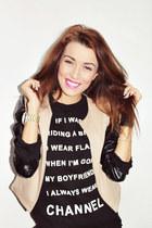 black Inna marka blouse - beige Inna marka jacket