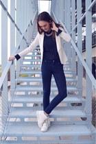 blue Zara pants