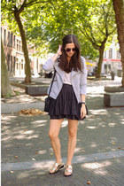 black H&M skirt - heather gray Only jacket - silver wonders sandals
