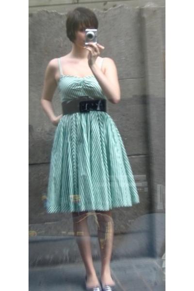 H&M dress - Pimkie belt - Pimkie shoes