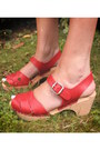Navy-dress-ruby-red-clogs