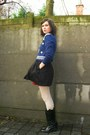 Navy-sweater-red-dress-black-skirt-eggshell-tights-black-boots