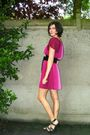Pink-dress-black-shoes