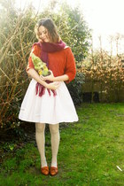 tawny shoes - light pink dress
