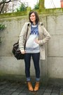 Periwinkle-sweater-navy-leggings-bronze-shoes-black-bag-camel-coat-bla