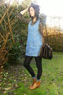 Sky-blue-dress-black-blouse-black-tights-sky-blue-socks-bronze-shoes-b