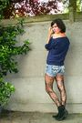 Blue-shorts-blue-the-who-shirt-black-tights-boots-gray-cardigan
