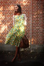 Lime-green-dress-burnt-orange-accessories-light-orange-blouse