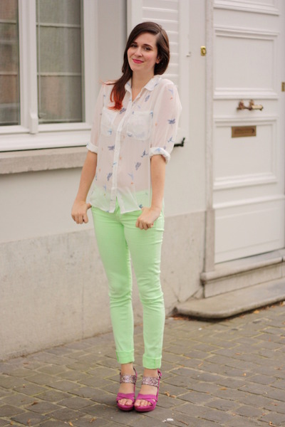 light green pants - Pi Pants