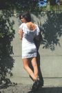 White-dress-black-shoes-silver