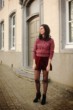 skirt - boots - coat