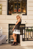 black piano Aliexpress dress - brown pattern Zara boots